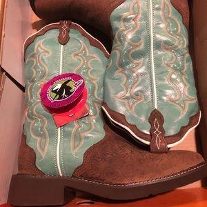Women's Western Turquoise Boots NIB